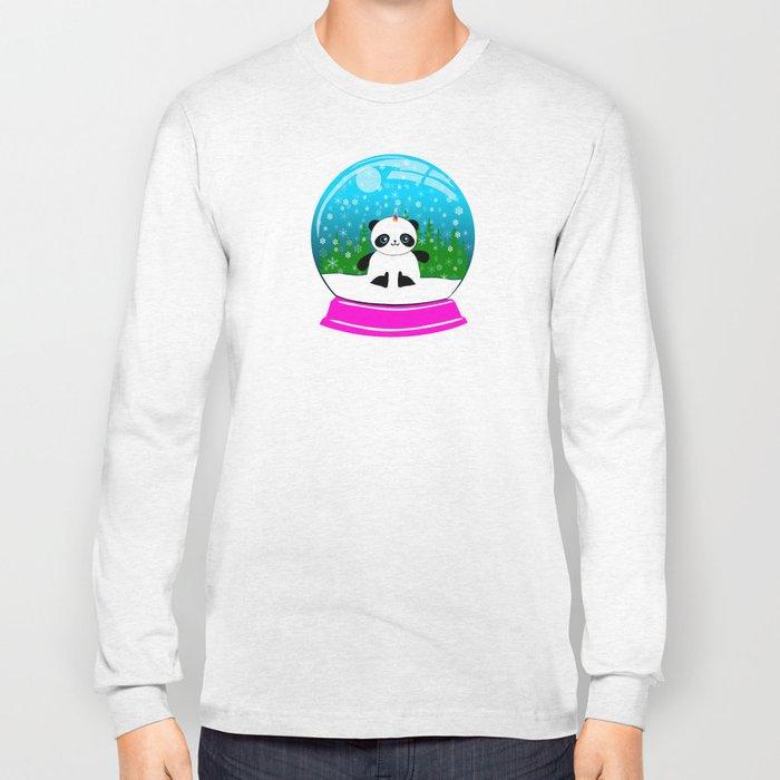 Pandacorn in a Snowglobe Long Sleeve T-shirt