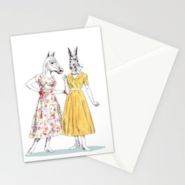 Bestial ladies Stationery Cards