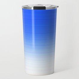 Sky Blue White Ombre Travel Mug