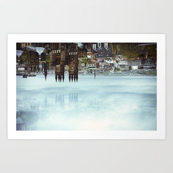 Edinburgh inverted Art Print