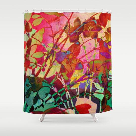 wild floral Shower Curtain