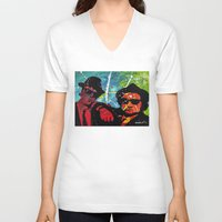 blues brothers V-neck T-shirts featuring Blues by veermania
