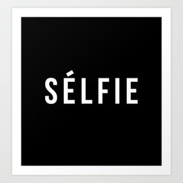 Selfie - version 2 - white Art Print