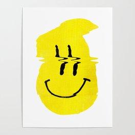 Smiley Glitch Poster