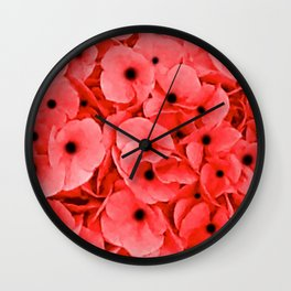 Veterans | Memorial Day | Remembrance Day | We Remember | Red Poppies | Nadia Bonello Wall Clock