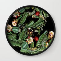 botanical Wall Clocks featuring BOTANICAL  by sametsevincer