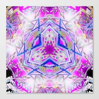 holographic Canvas Prints featuring Holographic Matrix by SacredLife