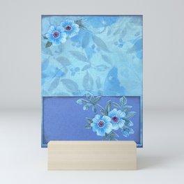 Paper flowers Mini Art Print