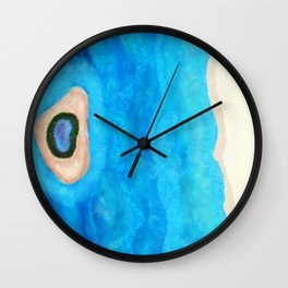 The Beach and Little Island Wall Clock