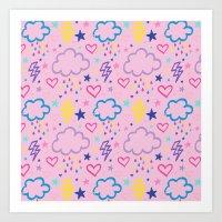 Rainbow Cloud Art Print