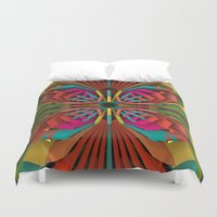 edm Duvet Covers featuring Tropica by Obvious Warrior
