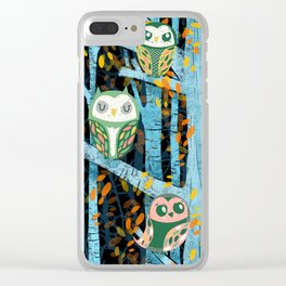 Overnight Owl Conference Clear iPhone Case