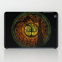 gondor iPad Cases featuring Tree of Gondor Stained Glass by Mazuki Arts