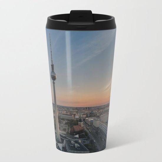 TV Tower at Sunset Metal Travel Mug