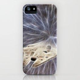 Millennium falcon hyperspace travel iPhone Case