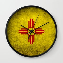 Flag of New Mexico - vintage retro style Wall Clock