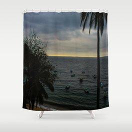 Dreamy Mexican Beach Sunset Shower Curtain