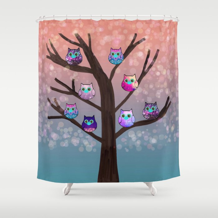 Owl 76 Shower Curtain