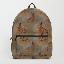 Meadow Hares and Dandelions Backpack