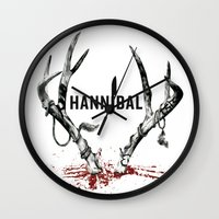 hannibal Wall Clocks featuring Hannibal  by lazergo