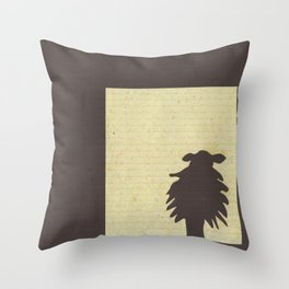 Brown Sheep Throw Pillow