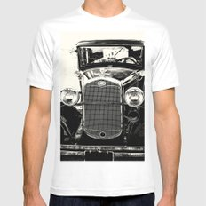 Model A Ford Mens Fitted Tee White MEDIUM