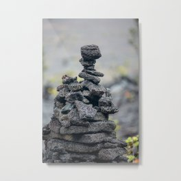 Stacked Volcanic Rocks Metal Print