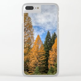 Autumn on the Mountain Clear iPhone Case