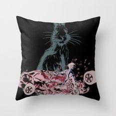 Rabbit In Your Headlights Throw Pillow