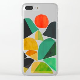 Mountains as the giants Clear iPhone Case