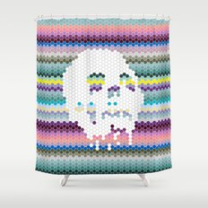 Color the Skull Shower Curtain