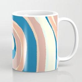 Ripples - Soft Neutrals and Blue Coffee Mug