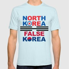 North Korea Light Blue Mens Fitted Tee LARGE
