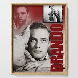 Marlon Brando Collage 3 Serving Tray