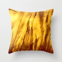 grass Throw Pillows featuring Grass by Fine2art