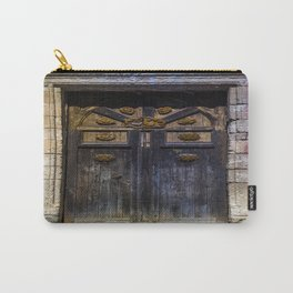 Old brown door Carry-All Pouch