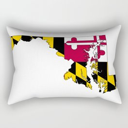 Maryland Map with Flag of Maryland Rectangular Pillow