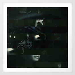 Mixed Media abstract art Art Print
