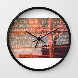 Off World Colony Wall Clock