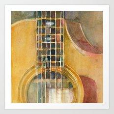 Taylor Guitar Art Print