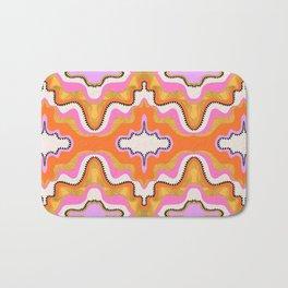 Orange Groove Bath Mat