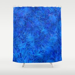 Frozen Leaves 6 Shower Curtain