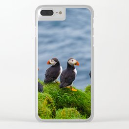The Puffins of Mykines in the Faroe Islands X Clear iPhone Case