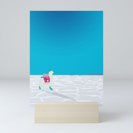 Llama on the Bolivia Salt Flats, Salar de Uyuni Mini Art Print