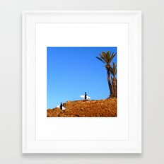Morocco Surfers Framed Art Print