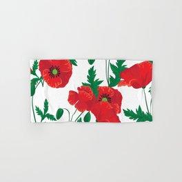 Poppy Stems #4 Hand & Bath Towel