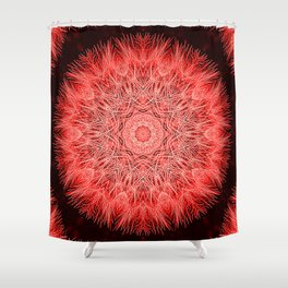 Red Fluff Shower Curtain