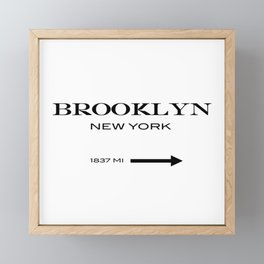 Brooklyn - New York Framed Mini Art Print