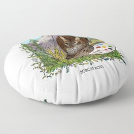Bobcat Ross Floor Pillow
