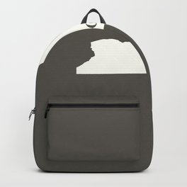 New York is Home - White on Charcoal Backpack
